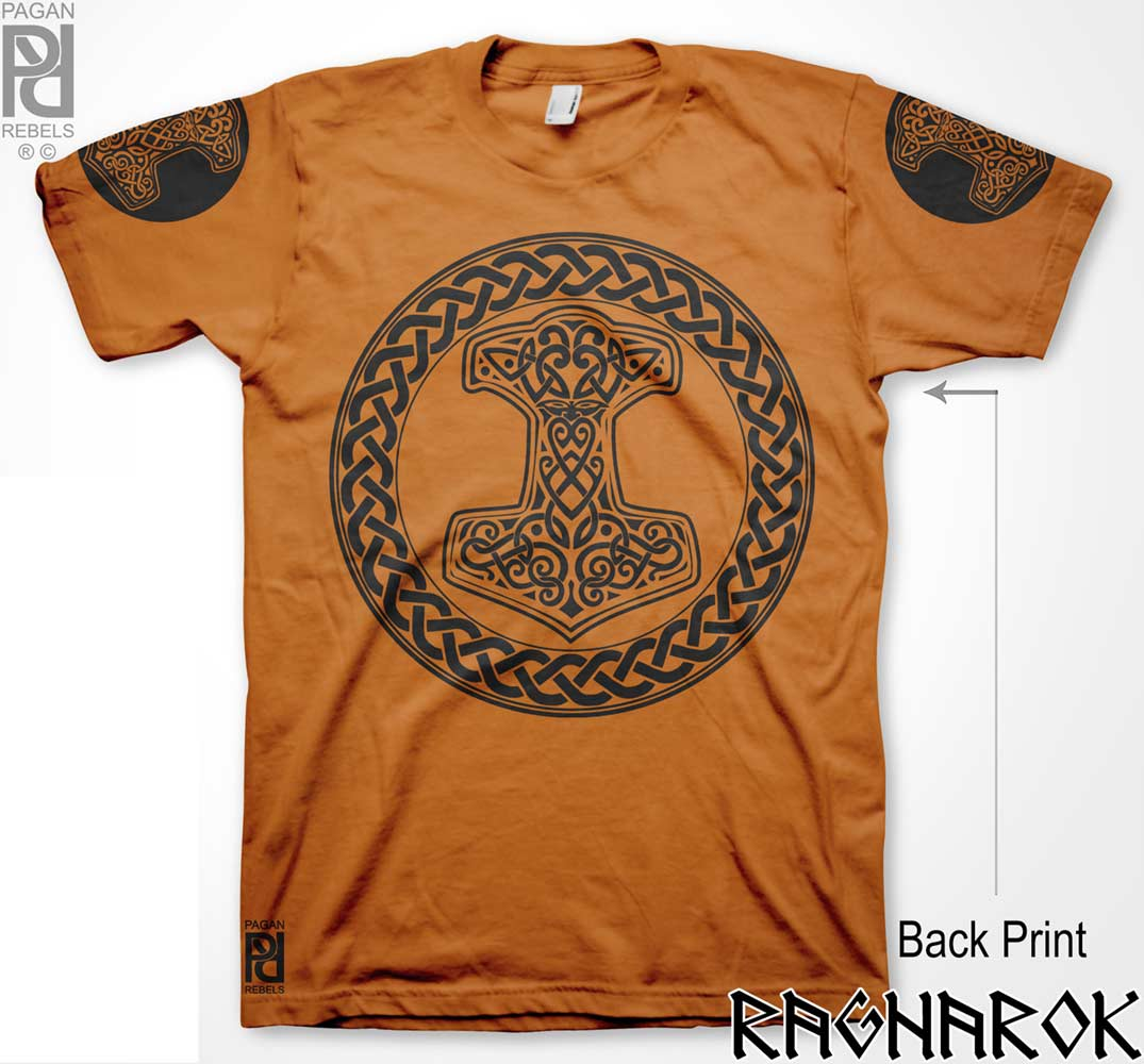 Mjolnir Thor Hammer Crusher Viking Ragnarok T Shirt Pagan Rebels