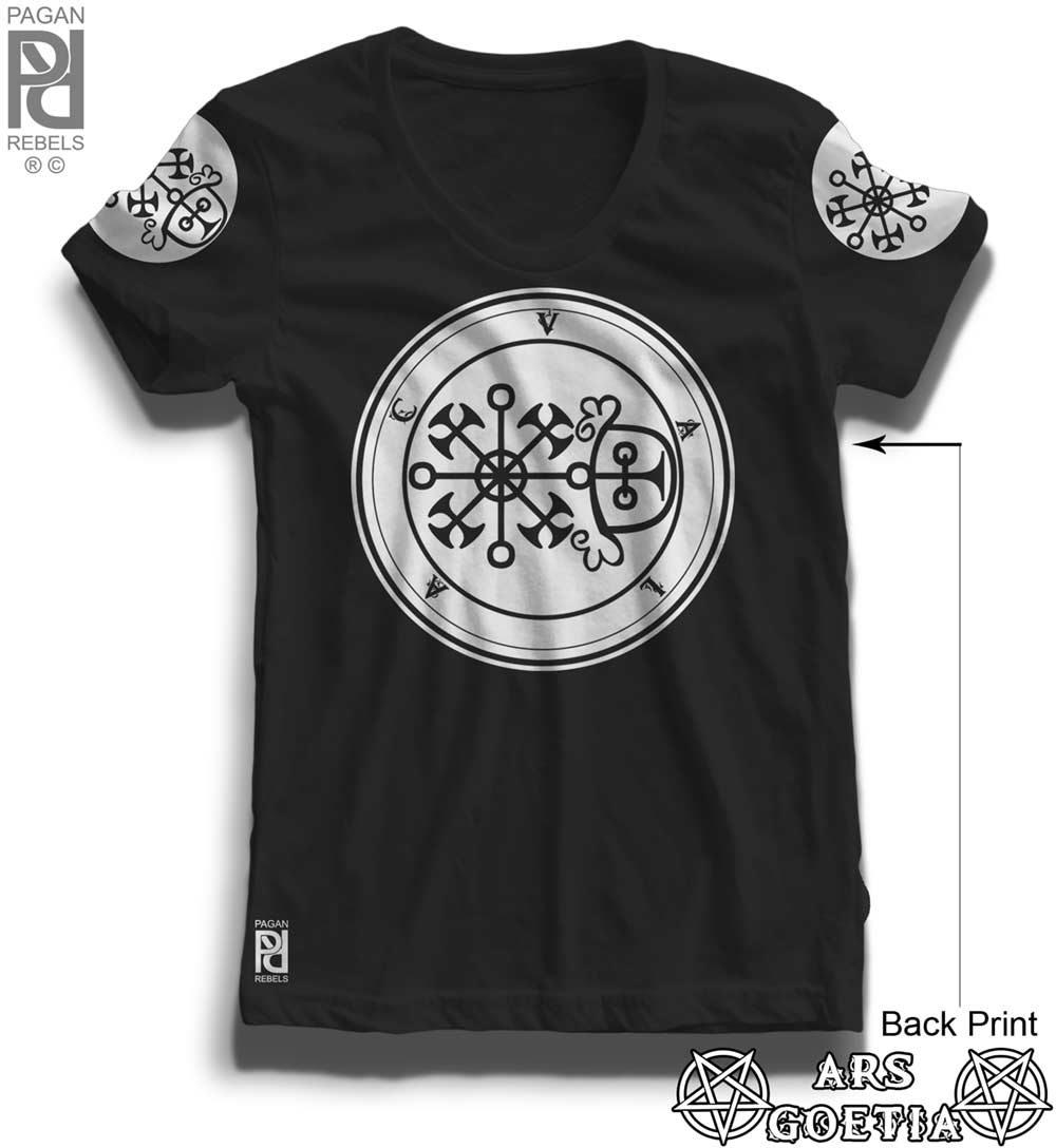 Valac Ars Goetia Demon Seal Hell Pentagram Occult Women T-shirt