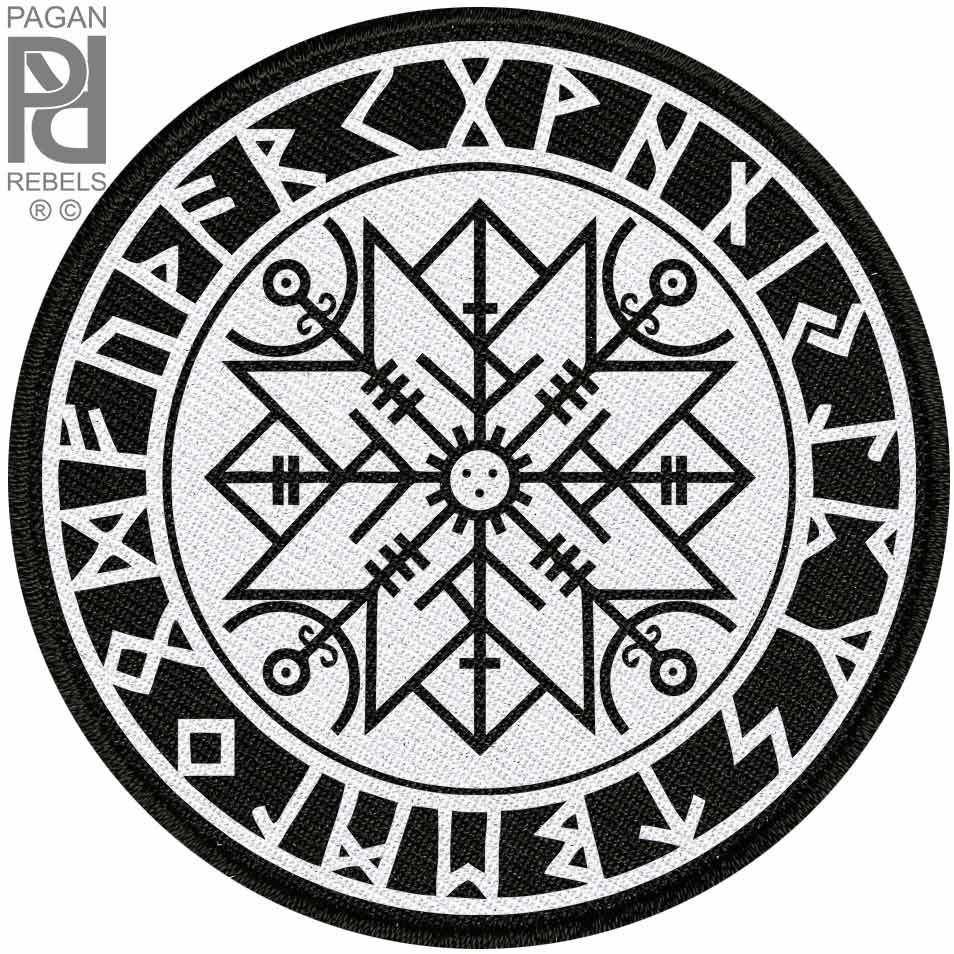 Norse Rune For Protection Viking Ragnarok 27cm 106 Backpatch