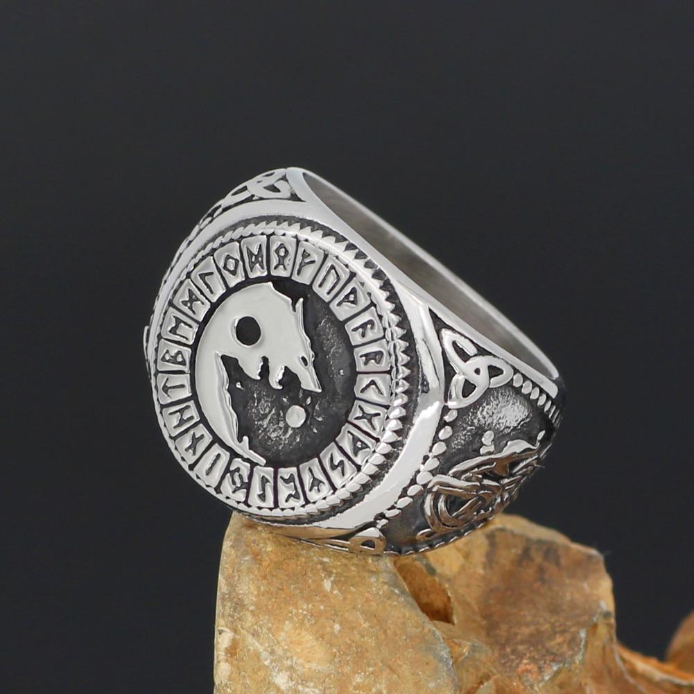 Ulfhednar Wolf Rune Elite Warriors Viking Massive Heavy Stainless Steel Ring Pagan Rebels